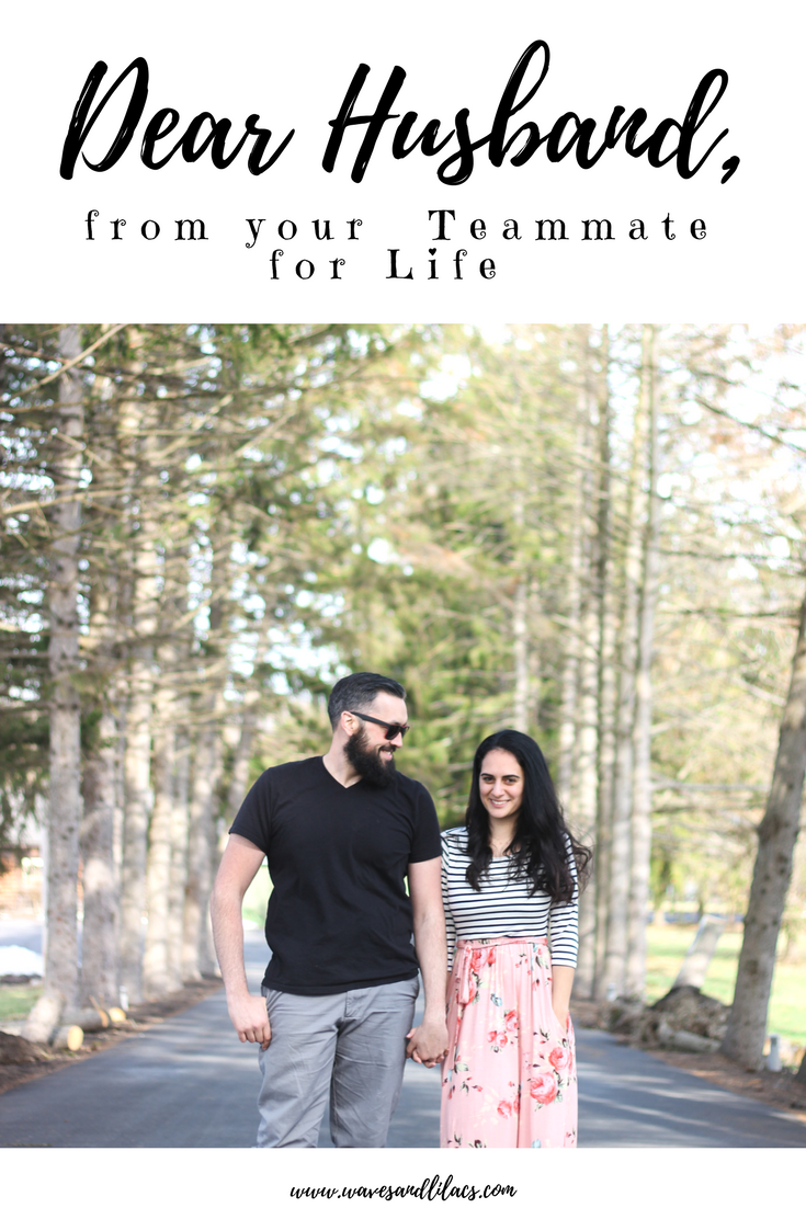 Dear Husband, marriage is team work with pink blush from www.wavesandlilacs.com